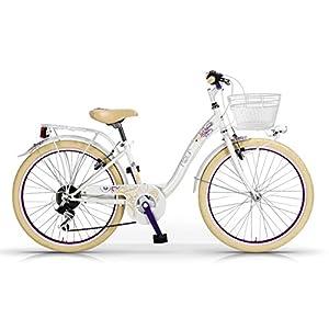 51W3i4C0BRL. SS300 MBM 206/18 Fleur, Bicicletta da Trekking E Citta Unisex Bambini