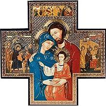 155461f6300 Biblegifts Imán Colgante de Navidad con Forma de Cruz Dorada y Plateada  metálica para Colgar en