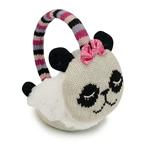 Aroma Home Click and Heat Knitted Animal Cozy Panda Ear Muffs by Aroma Home