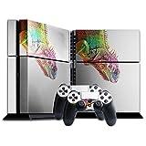 Wilde Tiere 185, Eidechse, Designfolie Sticker Skin Aufkleber Schutzfolie mit Farbenfrohem Design für Playstation 4 CUH 1200