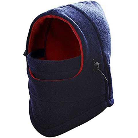 F-Fook Multi-purpose Warm Fleece Balaclava Headwear Neck Warm Full Face Mask Wind Proof Hat Hood for Cycling Bicycle Motorcycle Ski Snowboard Outdoor Sport