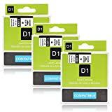 Labelwell 3 Rollen 9mm Kompatibel DYMO D1 40913 S0720680 Schwarz auf weiß Schriftband Mehrfarben-Standardklebstoff Laminierte Etikettenband für Dymo LabelManager 160 280 260P 360D 500TS LabelWriter 450 DUO Rhino LabelPoint 150 250 (3/8