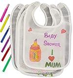 Alandra Bpwfa-4212'Baby Shower Bavoirs' Dessin de jeu