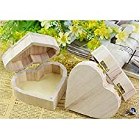 duanlidong Love Heart Shape Wooden Box Jewelry Organizer Wedding Package Gifts Box Storage Necklace Earrings Ring Case