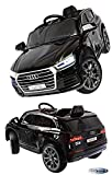 Kinderfahrzeug 12V Kinder Elektro Auto Audi Q5 Ledersitz EVA Gummiräder Kinderauto Elektrofahrzeug 2,4 GHZ schwarz Steuerung