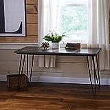 hahaemall Moderne Optik Möbel DIY Home Esstisch Industrie schwarz Metall 2Rod Haarspange Kaffee Tisch Beinen Set von 4ohne die Holzbrett