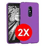 TBOC 2X Purple Ultra Thin TPU Silicone Gel Case for Alcatel