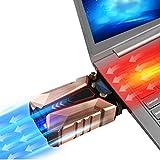 ZDDT COOL Cold Notebook-Kühler aus Metall-Der stärkste-Vakuum USB für sofortige Kühlung-Cooler Ständer Kühlpad gegen die Überhitzung
