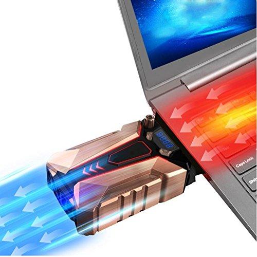 SHIQUNC COOL Cold Notebook-Kühler aus Metall-Der stärkste-Vakuum USB für sofortige Kühlung-Cooler Ständer Kühlpad gegen die Überhitzung