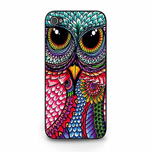 Lovely Fresh Owl Wallpaper Phone Case Cover Solid Skin Protetive Shell for Iphone 5/5s Owl Premium Color141d
