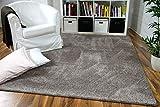 Hochflor Velours Teppich Mona Taupe in 24 Größen