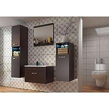 JUSThome POLA STANDARD Conjunto de cuarto de baño (4 - piezas) Color : Wengué Mat
