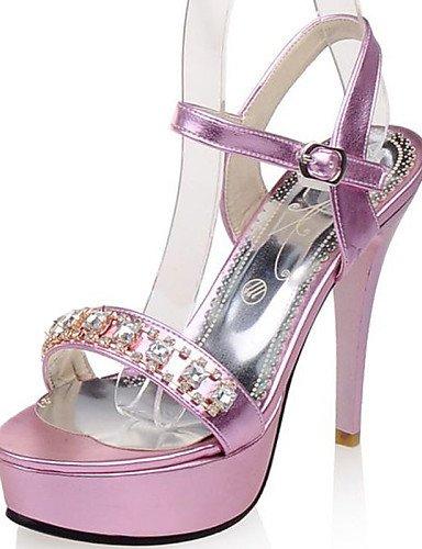 LFNLYX Chaussures Femme-Mariage / Habillé / Soirée & Evénement-Violet / Argent / Or-Talon Aiguille-Talons / A Plateau / A Bride Arrière / Bout golden