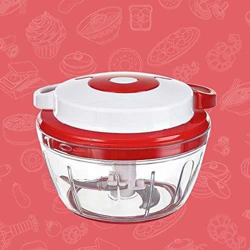 Bobsper Multifunctional Manual Chopping, Garlic, Dumplings, Stuffing, Chopped Vegetables, Pepper, Meat Grinder for Household use, Trumpet red Red Pepper Grinder