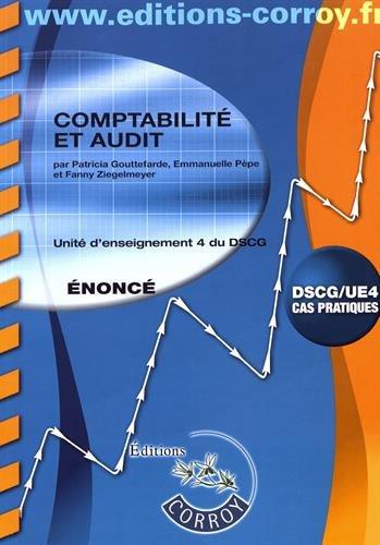 Comptabilité et audit - Enoncé: Unité d'enseignement 4 du DSCG. Cas pratiques