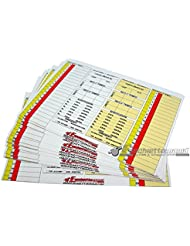 10 Replacement Cards (for 7 Substitutions) for Referee's Notebook by Fischiettomania