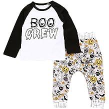 halloween disfraces niños ropa bebe niño invierno 2017 Switchali otoño recien nacido Bebé Niña manga larga Camisetas moda blusas + Pantalones largos Conjuntos de ropa