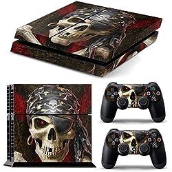 Accesorio adhesivo de calavera pirata para PS4.
