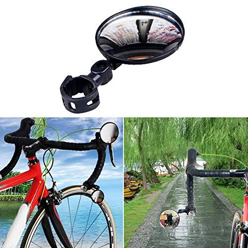 Preisvergleich Produktbild Gracorgzjs Fahrrad-Rückspiegel,  universal,  360 Grad drehbar,  Weitwinkel-Rückspiegel,  Schwarz,  7, 5 cm
