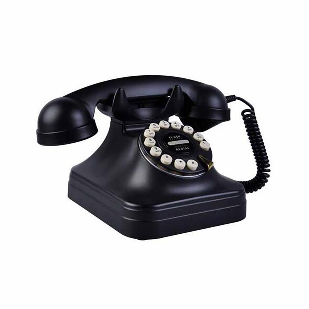 QQ Telefono Domestico Antico Di Retro Europeo Della Cifra Fissa Domestica Fissa