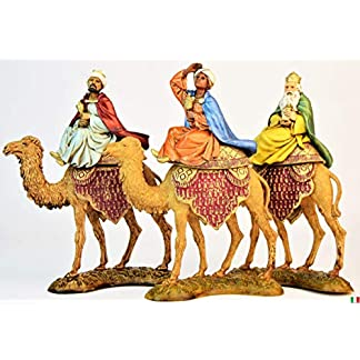3reyes Magos sobre EL camello de 10cm de Resina Figuras belén