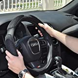 #8: NIKAVI Steering Wheel Cover - Odorless, Warmer Hands In Winter, Cooler Hands In Summer (BLACK)