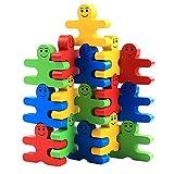 Equilibrio villano de dibujos animados de madera Bloques educativos para niños Bloques de construcción coloridos Juego de desarrollo de rompecabezas Juego de juguetes