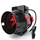 Ventilateur d'extraction Black Orchid - Pour filtre à charbon - Avec cordon -...