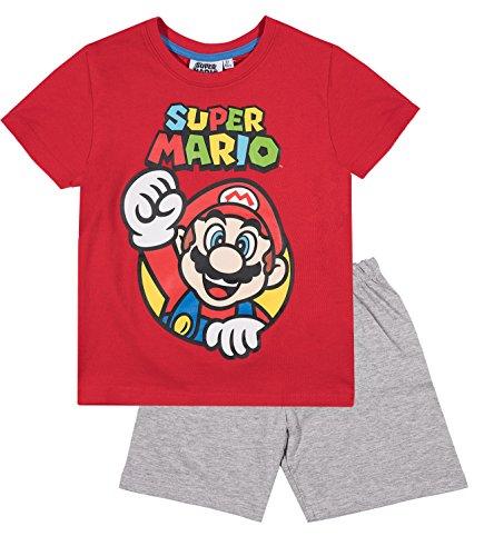 Super Mario Bros Chicos Pijama mangas cortas – Rojo