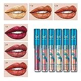 Best Lápices labiales LA Girl - Frcolor 6pcs Lip Gloss Set Antiadherente Cup Metal Review