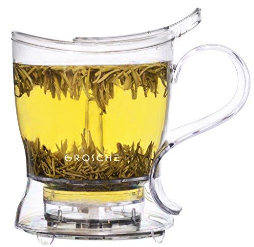 Infusor de Té GROSCHE Aberdeen, Tetera, Infusor de Té y Dispensador de Té - Libre de BPA y sin contaminantes (525 ml)