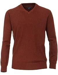 Casa Moda - Herren Pullover mit V-Ausschnitt in Melange Optik (462521200A)