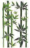 Fensterbild / Wandtattoo - Bambus Strauch - Fensterbilder / Fenstersticker - selbstklebend Fensterdeko / Deko - Mädchen Jungen Kinder - Indonesien / Wellness SPA - Feng Shui - Badezimmer Pflanze - Grünpflanze