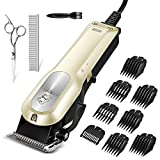 OMORC Dog Clippers with 12V High Power for Thick Coats, Professional Heavy Duty Dog Grooming Kit, Quiet Cat Clippers with 8 Comb Guides & Pro Accessories, Powerful Hair Trimmer Kit for Dogs Cats Horse