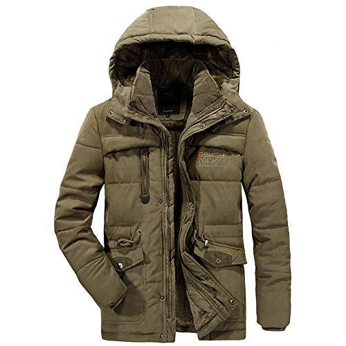 Zolimx giubbino uomo bomber uomo, giubbotto parka uomo giacca parka caldo giacca cappotto invernale con cappuccio antivento casual giacche