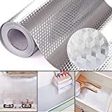 #2: Leoie 40X100CM Oil-Proof Wallpaper,Foil Self Adhesive Waterproof Wallpaper DIY Kitchen Tools