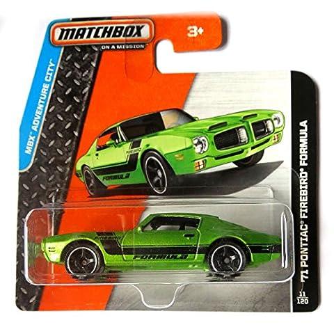Matchbox Pontiac Firebird Formula 1971 grünmetallic 1:64