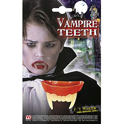 Widmann 4089B Vampirgebiss für Kinder, Mehrfarbig, One - Maquillage Et Kostüm Halloween