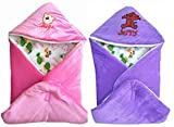 #10: BRANDONN FASHIONS Gift Pack Combo Of 2 New Born Baby All Season Use 3 IN 1 Baby Wrapper OR Blanket Cum Sleeping Bag Cum Bedding(0-6months)(PINK-PURPLE)