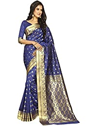 Craftsvilla Silk Saree With Blouse Piece (MCRAF32513824840_Blue_Free Size)