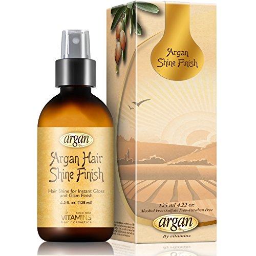 Vitamins Sérum Spray Protecteur Hydratant Gloss Shine Finish à l' Huile d'Argan. Soyeux & brillant toute la journée (Cheveux abîmés)