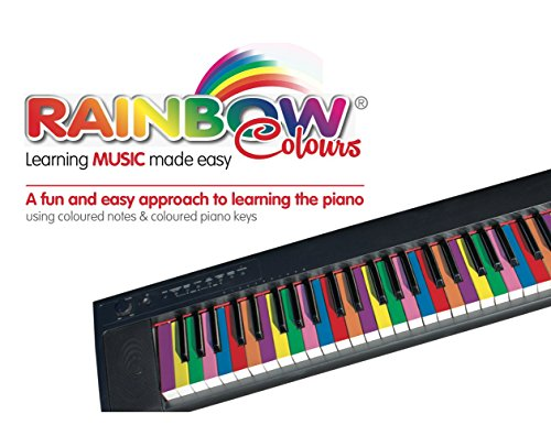 Rainbow Colours Piano Book, Easy Learning Fun, Beginners Piano Book, Learning with Colours, Fun Piano Book for Kids