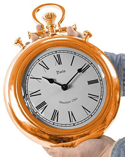 XXL Riesen Taschenuhr Farbe Rose Gold Wanduhr Design Tischuhr Uhr Design großes Zifferblatt und Zahlen Dekoration Zimmer-deko