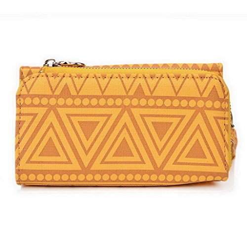 Style Kroo Pochette/Tribal Urban Style Coque pour Motorola Moto X Multicolore - White and Orange Multicolore - jaune