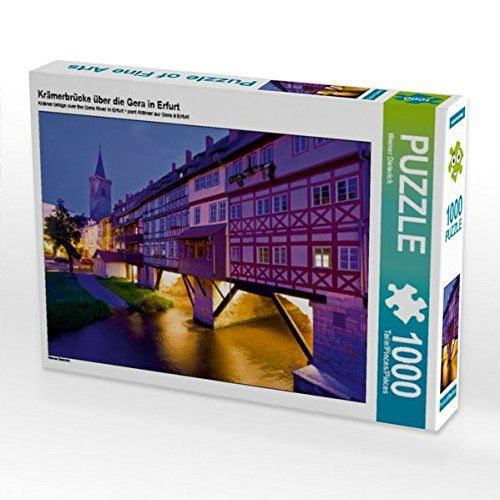 Krämerbrücke über die Gera in Erfurt 1000 Teile Puzzle quer (CALVENDO Orte)