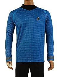 Star Trek Into Darkness Spock Shirt Uniforme Costume Version Bleu