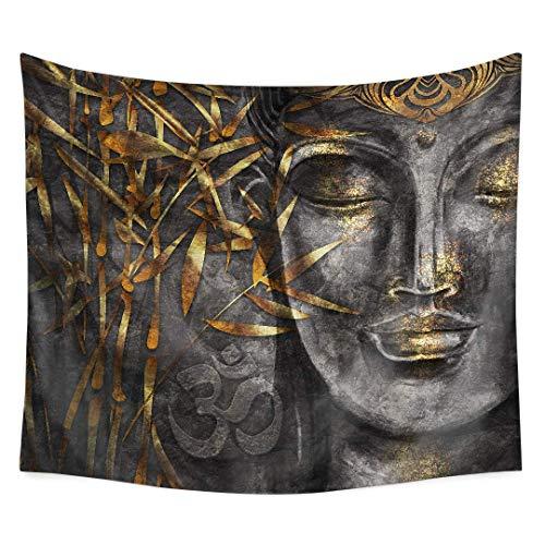 Yo Chairon Buddha Wandteppich, Buddhismus, Dekoration, Sammlung, Buddha-Kopf, Statue Bild, Wandbehang für Wohnzimmer, Schlafzimmer, Büro, Wohnheim (6), Color1, 39.4x59inch