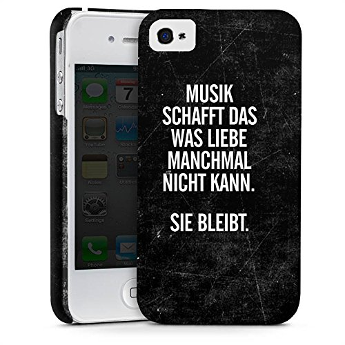 Apple iPhone 5s Silikon Hülle Case Schutzhülle Sprüche Liebe Musik Premium Case glänzend