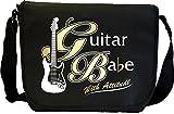 Electric Guitar Babe Attitude 1 - Sheet Music Document Bag Musik Notentasche MusicaliTee