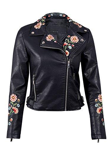 simplee-abbigliamento-femminile-finto-cuoio-lampo-breve-risvolto-ricamati-motociclisti-giacca-outwear